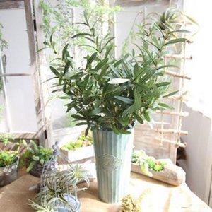 Artificielle Branche D'olivier Fleurs Décoration De Mariage Environ 103cm Pour La Maison 5pcs