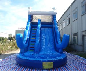 Çocuklar için 2018 üretim popüler şişme su kaydırağı şişme havuz kaydırağı havuz şişme slayt açık havada