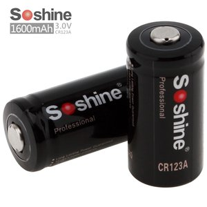 ¡Barato! 2pcs Soshine 3.0V 1600mAh CR123A batería primaria de litio adecuados para LED linternas faros ACC_11A