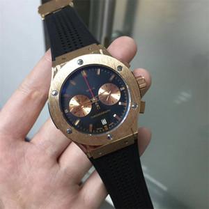 عالية الجودة السويسرية الكلاسيكية ماركة الساعات الرياضية الفاخرة الرجال الكوارتز ساعات montre أوم المطاط حزام الذكور ساعة reloj هومبر