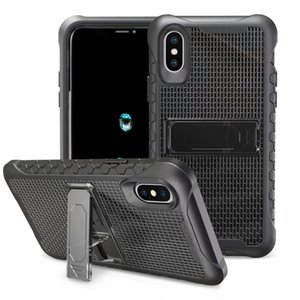Per iPhone X XR XS Max 6 7 8 plus Samsung S9 PLUS NOTE9 Supporto Robot Antiurto Pc Tpu pc Hybrid Calcio modello Armatura telefono stand by case