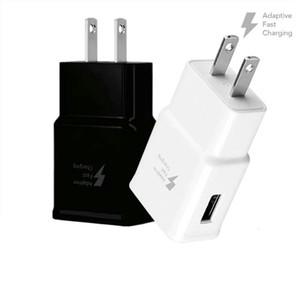Cargador rápido pared del USB del cargador de viaje AC 5V 2A Inicio EEUU del adaptador del enchufe de la UE para Smartphone universal teléfono Android para Samsung S10 S8 S6 S7 OM-R9