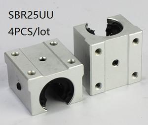4pcs / lot SBR25UU SME25UU 25mm type ouvert unité de cas linéaire bloc linéaire roulement blocs pour routeur cnc 3d imprimante pièces