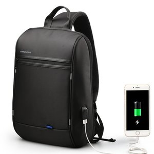 Hot Sale Fashion Business Leisure Backpack Brand Black shoulder bag USB charge Connector Large capacity shoulder bag nylon backpack