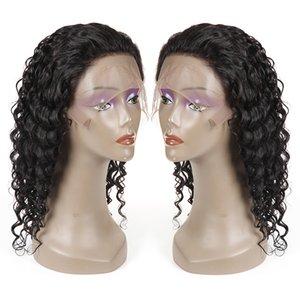 저렴한 브라질 버진 헤어 깊은 웨이브 인간의 머리카락 레이스 프런트 가발 인간의 머리카락 가발 가발 도매