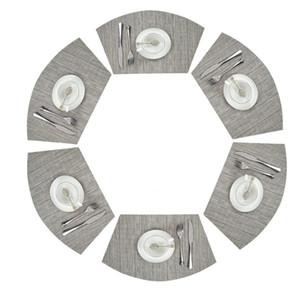 Kunststoff-PVC-Esstisch-Matte Runder Tisch Tischsets Wärme-Isolierung rutschfeste Tischsets Dish Bowl-Geschirr-Pads