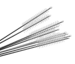 Nettoyants Nettoyage de paille en nylon Brosse de nettoyage pour cure-pipe en acier inoxydable