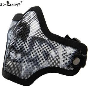 SINAIRSOFT Tactical Strike Steel Half Face Mask crâne Airsoft domaine woodland Mask CM01 Sportswear Accessoires Livraison gratuite
