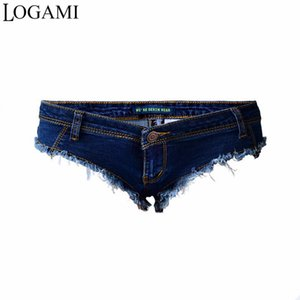 LOGAMI Shorts Micro Sexy Hot Mini Denim Shorts Frauen Niedrige Taille Sommer Jeans Kurze Feminino 2017
