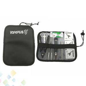 Vapeplus Tool Kit RDA RBA E Çiğ Araçları Kiti DIY Rulo çanta Için Ecig Atomizer Bobin Tasarımcı tornavida Kesiciler fırça sarıcı DHL Ücretsiz