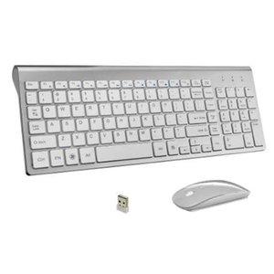 Teclado Sem Fio de Negócios Ultra-Fino e Rato Combo 102 Teclas Sem Fio Rato Teclado Sem Fio para Mac Win PC XP / 7/10 Caixa de TV