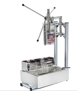 tre interi insiemi Commercial 7L Vertical Manual Churrera Churros Machine / 12L Fryer / 700ml Filler spedizione gratuita