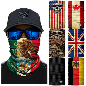 3D Seamless Multifunctional Headwear Magic Tube EE. UU. Bandera de Brasil Fútbol 2018 World Cup Mascarilla Diadema Bandana Diadema Bufanda Bicicleta