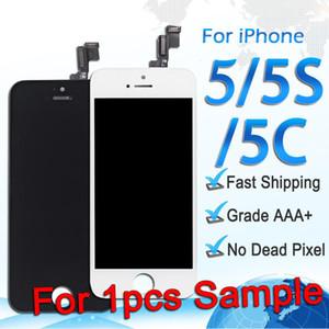 ЖК-дисплей для iPhone 5 5S 5c сенсорный экран Digitizer полная сборка замена запасных частей для заказа образца бесплатная доставка