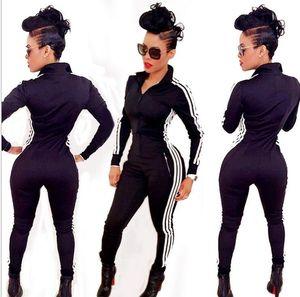горячие продать женщин мода движение Джокер чистый цвет плотный молния комбинезоны спортивные костюмы Костюм