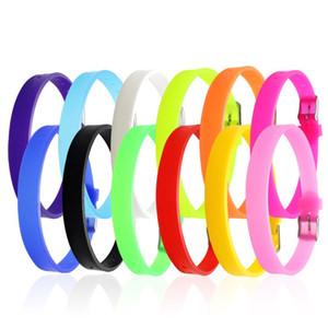Venta al por mayor pulsera de goma de silicona pulsera flexible pulsera brazalete deportivo brazalete casual para mujeres hombres