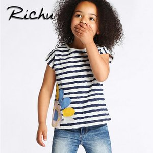 Richu plus size t shirt dress baby t shirts for girls t-shirt kids short sleeve 100% cotton animal solid 18 months 2 3 4 5 6 years wholesale