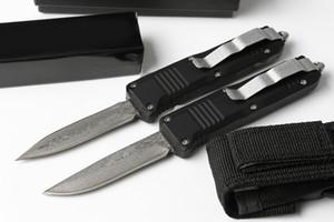 1 Stücke Neue Schmetterling C07 Mini Auto Taktisches Messer Damaskus Stahlklinge Aluminiumgriff EDC Taschenmesser