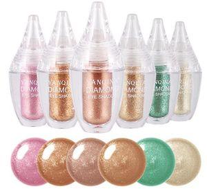 Новый макияж бренд YANQINA Алмазный жидкий блеск тени для век водонепроницаемый длительный металлический блеск тени для век DHL доставка