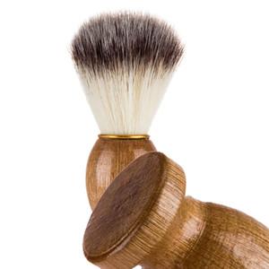 Männer Rasierpinsel Barber Salon Männer Gesichts Bart Reinigungsgerät Rasur Werkzeug Rasierpinsel mit Holzgriff für männer