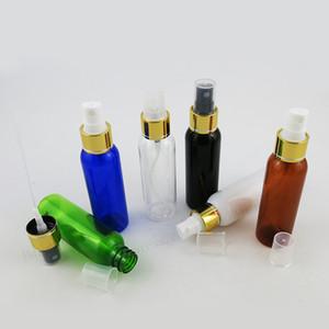 50 x 60 ml Vaciar Ámbar Negro Verde Claro Azul Blanco plástico PET fragancia del perfume de la botella del atomizador 2 oz de plástico con el rociador