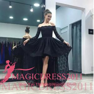 2019 charme sexy fora do ombro uma linha completa lace vestidos de noite mangas compridas rendas trem de baile vestido de baile vestido de festa vestidos