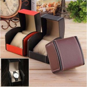 Fashion Watch Box Durable PU Leather Watch Boxes Bracelet Bangle Jewelry Wrist Watch Display Case With Pillow