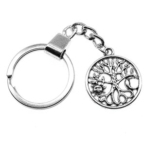 6 Pieces Key Chain Women Key Rings Couple Keychain For Keys Sun And Moon Tree 29x25mm