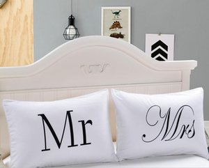 Eco-Friendly Sr. e Sra fronha Casal Pillow Shams para ele ou ela Natal Romantic Wedding Anniversary presente do Valentim