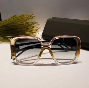 7106 / S Shiny Оранжевый Желтый квадратные солнцезащитные очки серый градиент объектив Модные солнцезащитные очки / Gafa-де-золь новые с коробкой