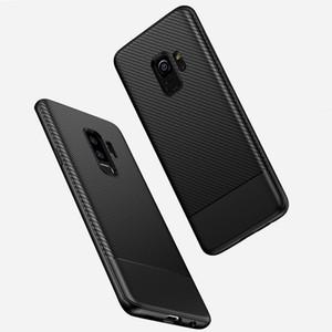 Für iphone 11 Pro xs maximales xr x 6 6s 7 8 plus Fall coque Für Samsung s8 s9 s10 plus Note8 Note9 Note10 Silm Carbon Fiber Soft Silicone Cover