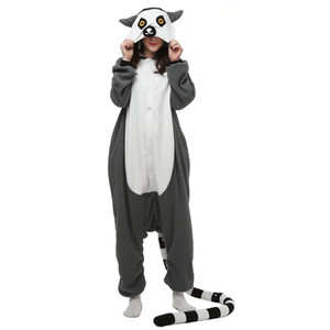 Lemur Women and Men Anime Kigurumi Polar Fleece Costume for Halloween Carnival New Year Party welcome Drop Shipping