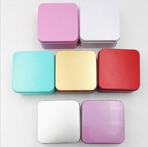 كبيرة الحجم مربع شعبية القصدير مربع تخزين المعادن حالة فارغة المنظم خبأ 5 ألوان 8.5 سنتيمتر الطول للمال عملة مفاتيح الحلوى يو القرص سماعات