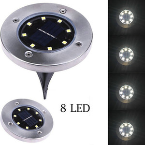 Edison2011 IP65 Étanche 8 LED Solaire Extérieur Sol Lampe Au Sol Paysage Pelouse Cour Escalier Souterrain Souterrain Nuit Lumière Home Garden Décoration