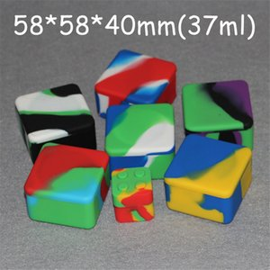 Flat Large Waxmate Containers Big Silicone Rubber Silicon Storage Square Shape Wax Jars Dab Concentrate Tool Dabber Oil Holder for Dry Herb