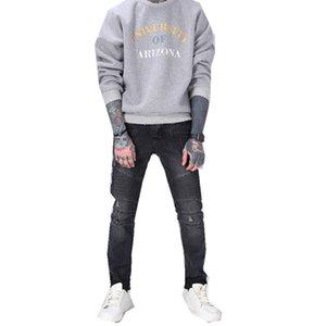 Yeni 2018 tasarım modası moda insanlar kırık delik erkek kot Online Shop ajanlar bir ikame kaynağı