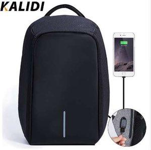 KALIDI ноутбук сумка USB зарядное устройство для Macbook 13 15 дюймов ноутбук сумка водонепроницаемый Anti Theft компьютерные сумки для мужчин женщин школьные сумки
