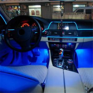 부드럽고 유연한 자연 5M DIY 분위기 12V 인버터와 자동차 인테리어 LED EL 튜브 네온 빛 라인
