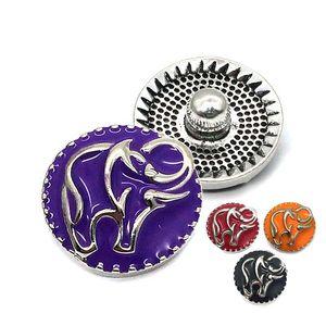 Alta calidad 074 3D 18mm 25mm rhinestone botón a presión de metal para la joyería del collar de la pulsera para las mujeres accesorios de moda