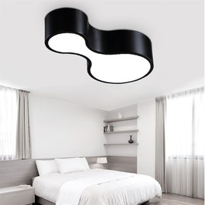 Modern simple personality creative bowling black white DIY combination iron LED ceiling lamp living room bedroom lighting