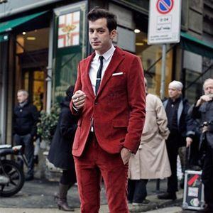 최신 코트 바지 디자인 Red Velvet 턱시도 슬림 남성 정장 2 개의 블레이저 사용자 지정 신랑 mens 정장 Terno Masuclino 재킷+Pant