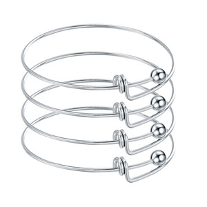 10pcs Edelstahl Blank Adjustable Erweiterbare Draht-Armband-Armbänder für die DIY-Charme-Armband-Schmucksachen