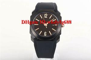 OB versão de atualização V3 fábrica Novo Octo Solotempo 101963 Mens watch octagonal 316L Aço 9015 automática pulseira de borracha de cristal de safira