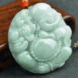 Certified-Natural-Jadeite-Jade-Maitreya-Necklace-Pendant-Charm-Jewelry-Amulet Certified-Natural-Jadeite-Jade-Maitreya-Necklace-Pen