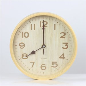 حار بيع كبيرة رخيصة ساعة الحائط التصميم الحديث تقليد خشبي معلق خمر الصامتة ساعة الحائط ساعة الخشب ديكور المنزل