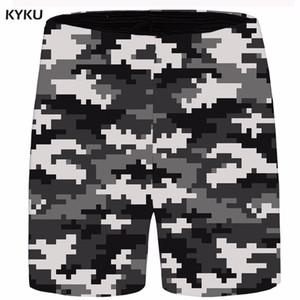 KYKU Brand Camo Men Blurry Gothic Cargo Shorts Ink 3d Print Beach Casual Shorts Hip Hop Mens Short 2018 New Summer Male Big Size