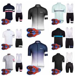 Rapha equipa Ciclismo de Manga Curta jersey (bib) calções conjuntos de Verão Camisas de bicicleta Use confortável e respirável novo E1805
