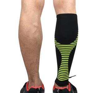 2 pezzi Sport Legwarmers Compressione Leggings in corso Escursionismo Pallacanestro Calcio Leg corte ciclismo L