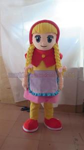 Masha traje da mascote frete grátis tamanho adulto, festa de carnaval de brinquedo de pelúcia luxuoso Martha celebra vendas de fábrica de mascote.
