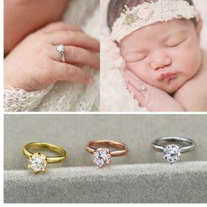 Neonati Fotografia Puntelli Faux Diamond Ring Baby Shooting Foto Prop Gioielli Photo Accessories-M20